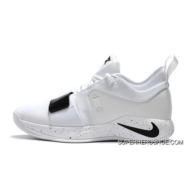 913c6dfead5f Nike PG 2.5 White Black Paul George Basketball Shoes New Release ...